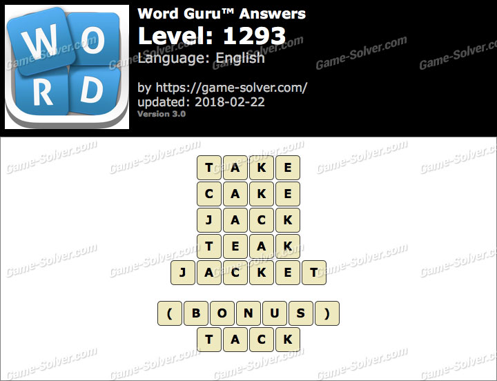 Word Guru Level 1293 Answers