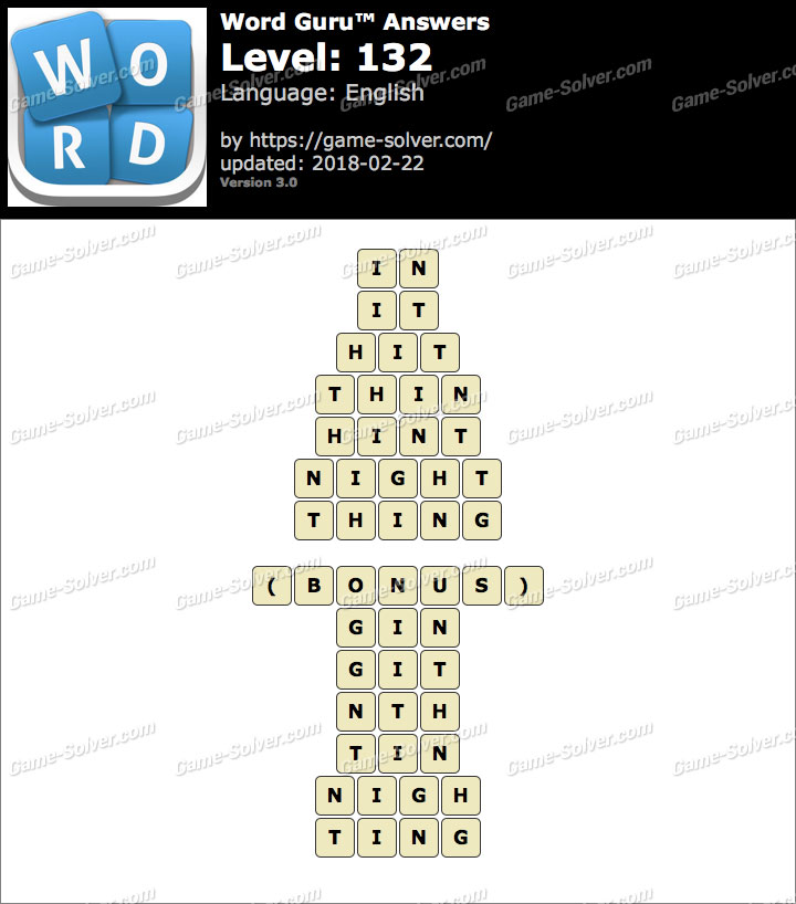 Word Guru Level 132 Answers