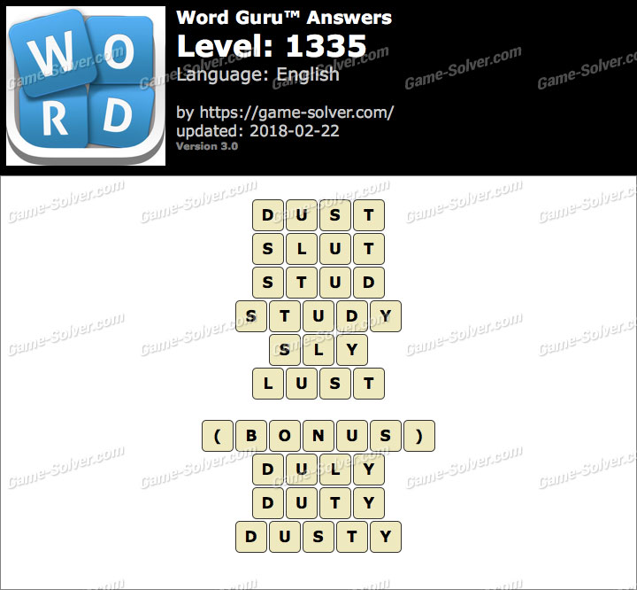 Word Guru Level 1335 Answers