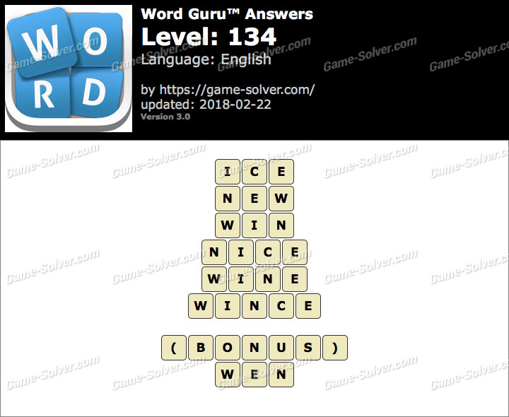 Word Guru Level 134 Answers