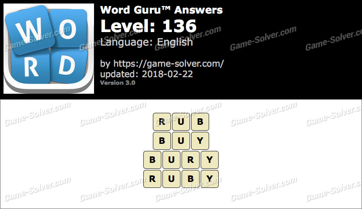Word Guru Level 136 Answers