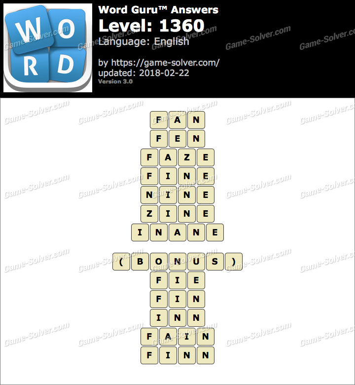 Word Guru Level 1360 Answers