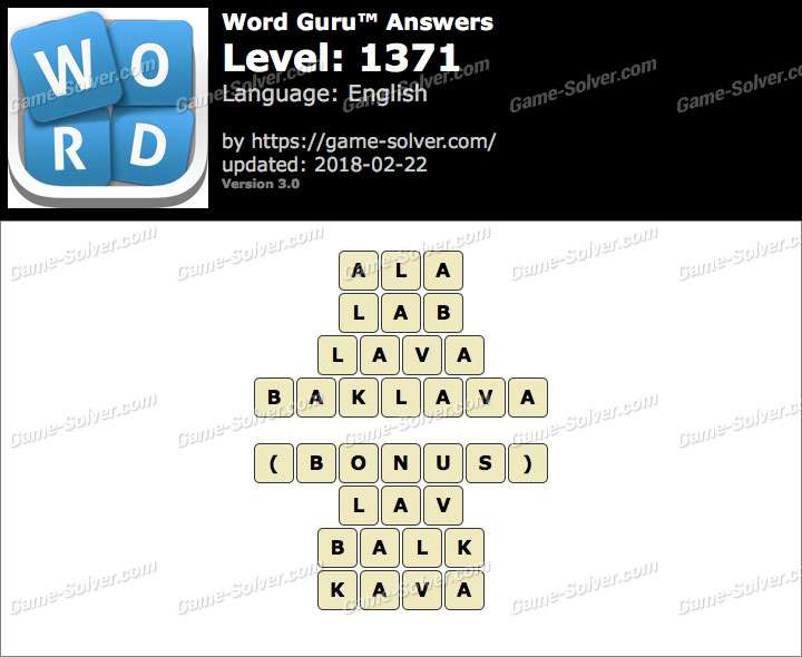 Word Guru Level 1371 Answers