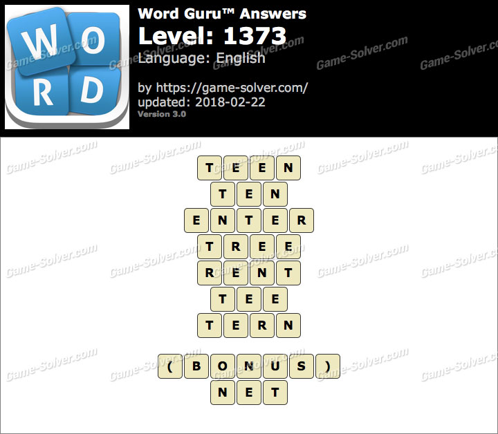 Word Guru Level 1373 Answers