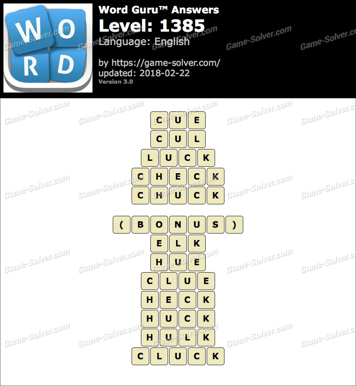 Word Guru Level 1385 Answers