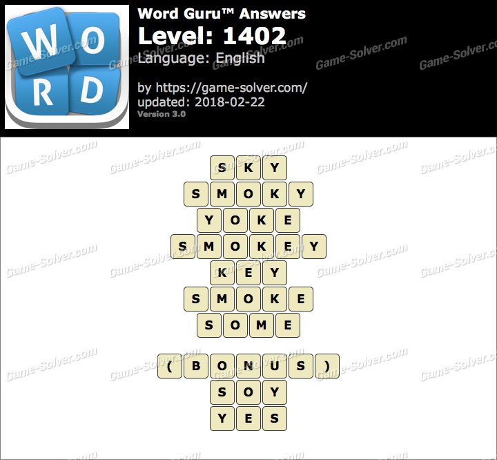 Word Guru Level 1402 Answers