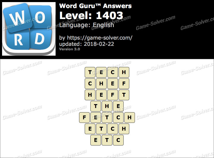 Word Guru Level 1403 Answers
