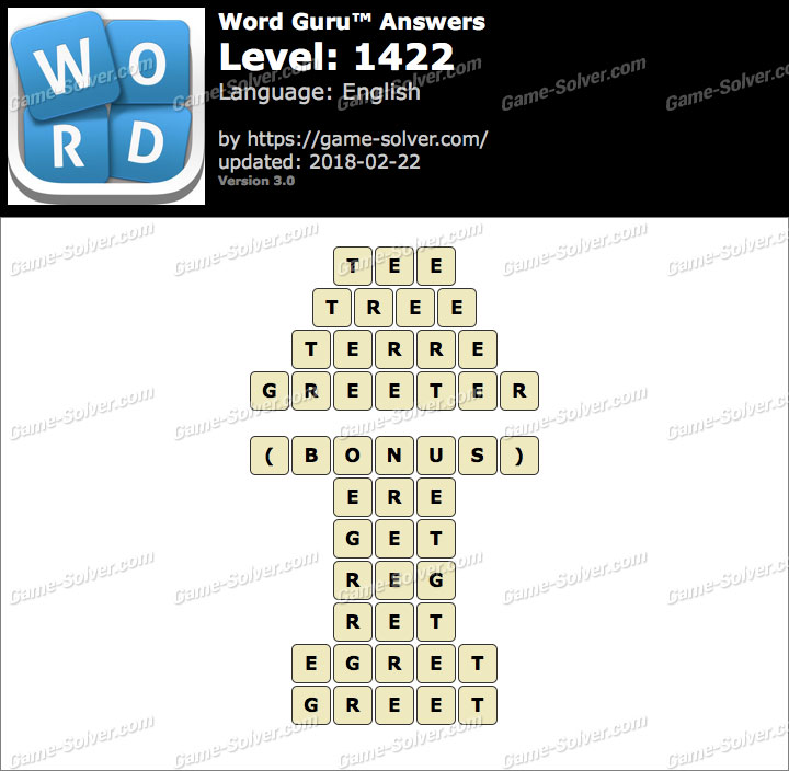 Word Guru Level 1422 Answers