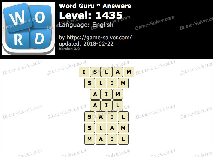 Word Guru Level 1435 Answers