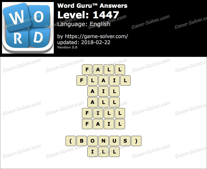 Word Guru Level 1447 Answers