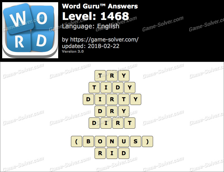 Word Guru Level 1468 Answers