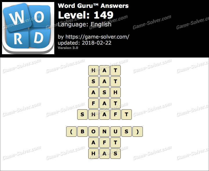 Word Guru Level 149 Answers