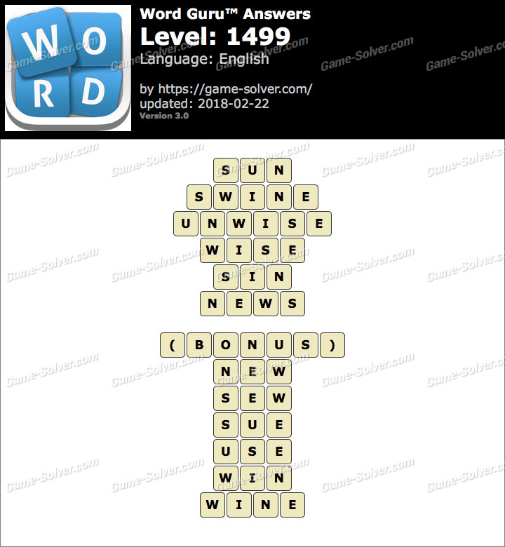 Word Guru Level 1499 Answers