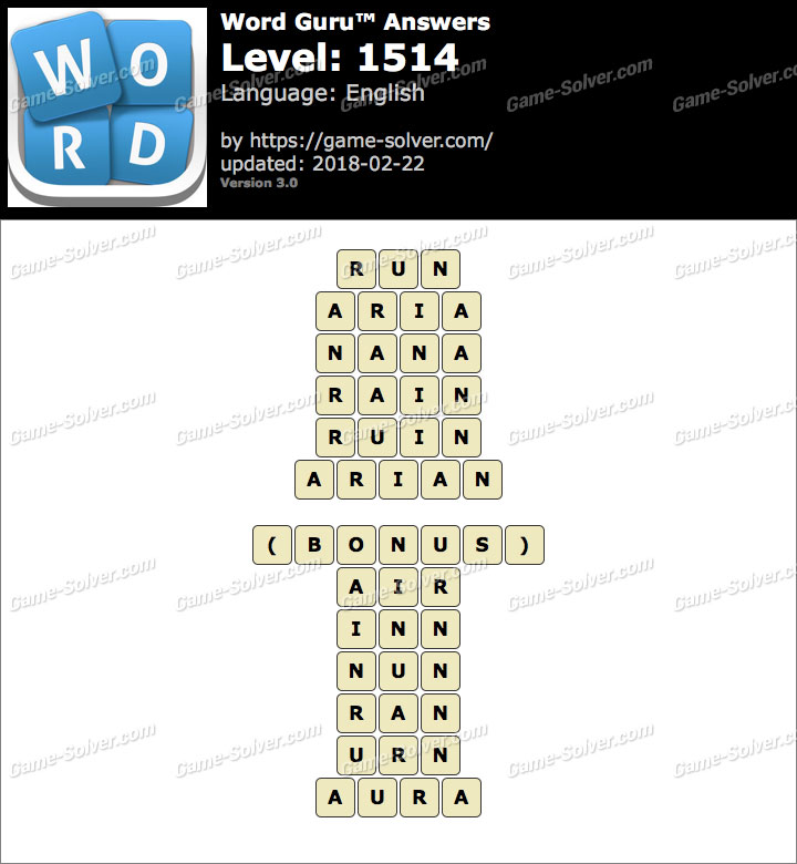 Word Guru Level 1514 Answers