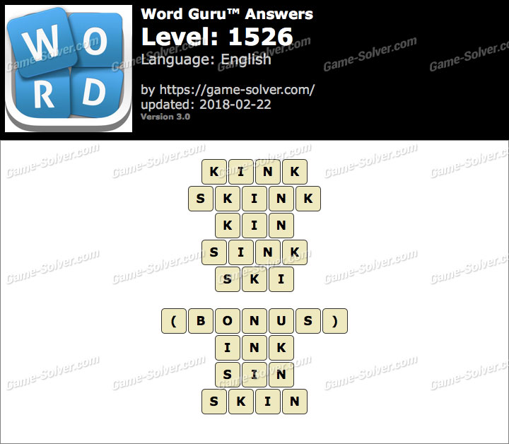 Word Guru Level 1526 Answers