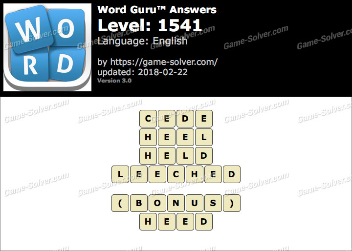 Word Guru Level 1541 Answers