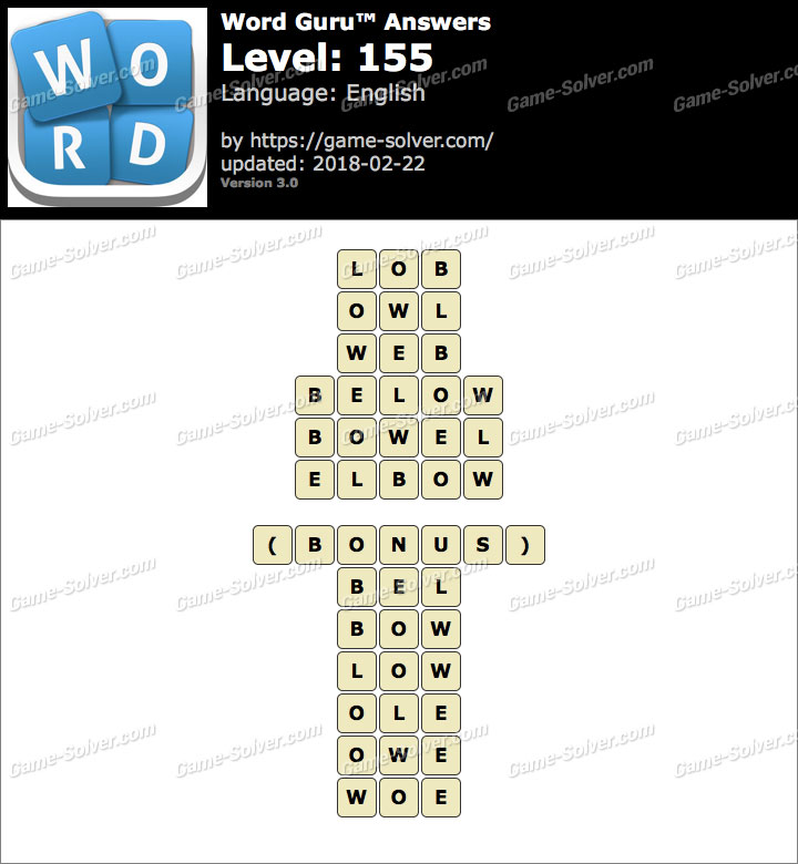 Word Guru Level 155 Answers