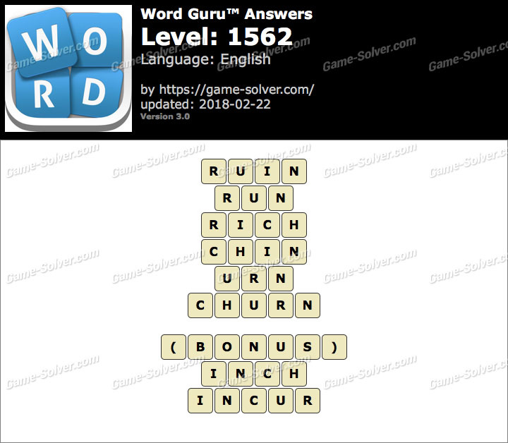 Word Guru Level 1562 Answers