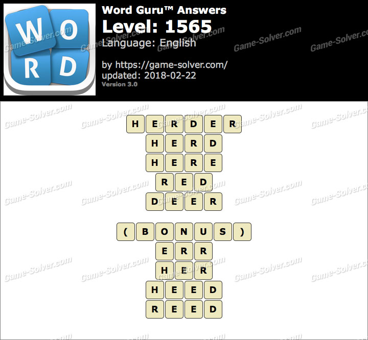 Word Guru Level 1565 Answers