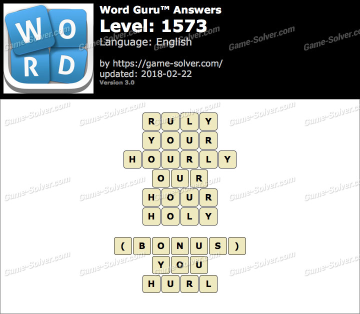 Word Guru Level 1573 Answers