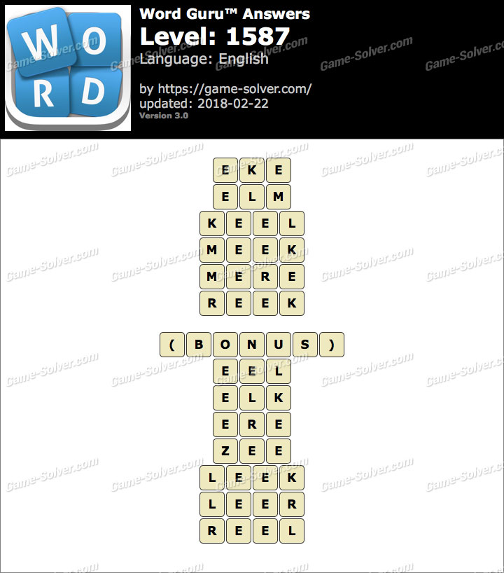 Word Guru Level 1587 Answers