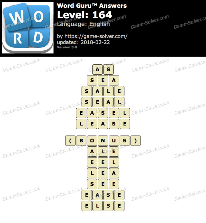 Word Guru Level 164 Answers