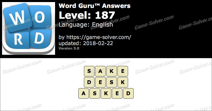 Word Guru Level 187 Answers
