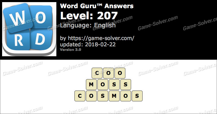 Word Guru Level 207 Answers