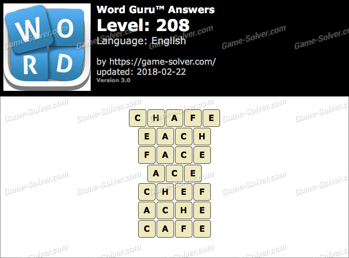 Word Guru Level 208 Answers