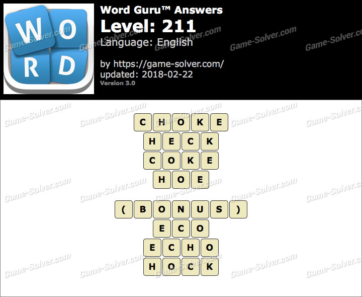Word Guru Level 211 Answers