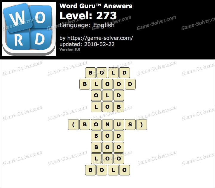Word Guru Level 273 Answers
