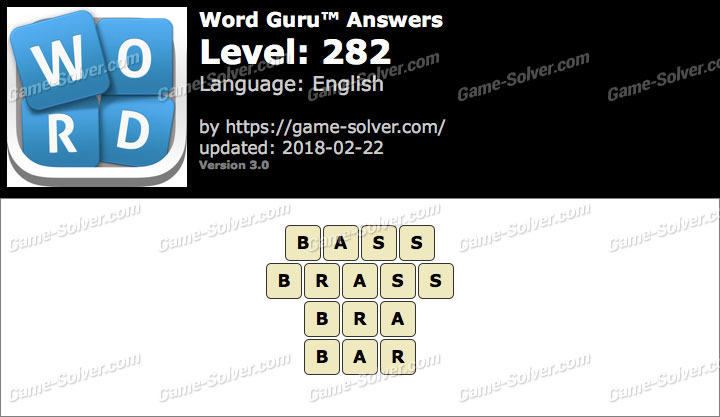 Word Guru Level 282 Answers