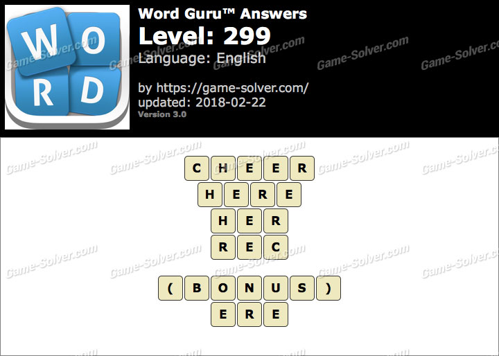 Word Guru Level 299 Answers