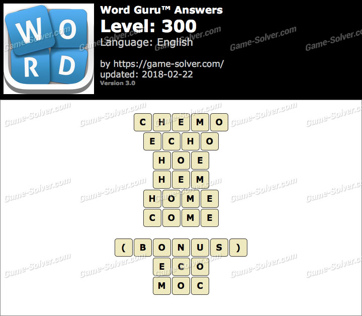 Word Guru Level 300 Answers