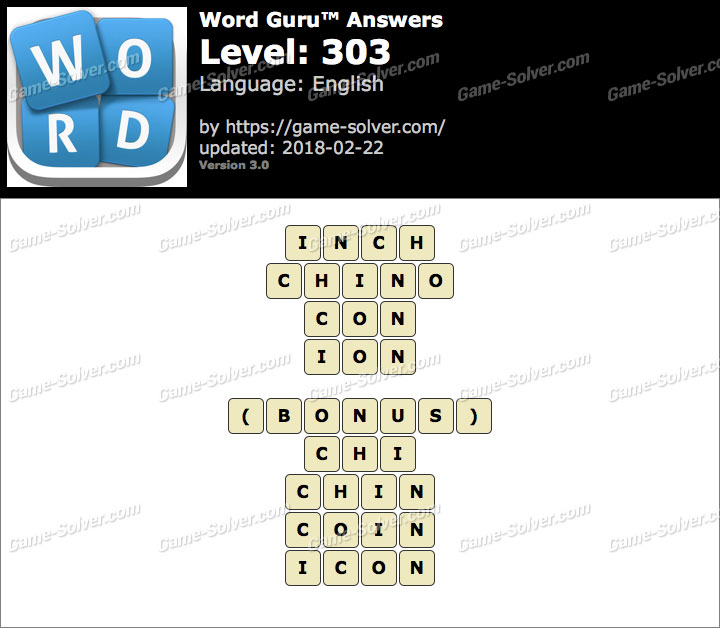 Word Guru Level 303 Answers