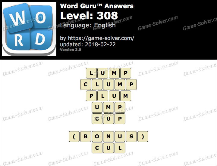 Word Guru Level 308 Answers