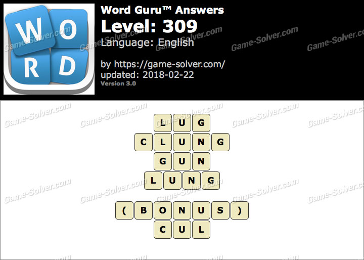 Word Guru Level 309 Answers