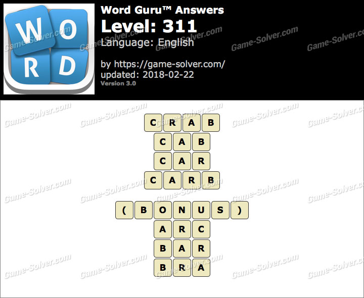 Word Guru Level 311 Answers