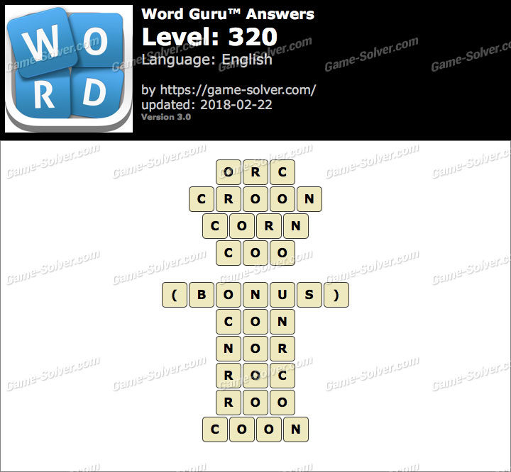 Word Guru Level 320 Answers