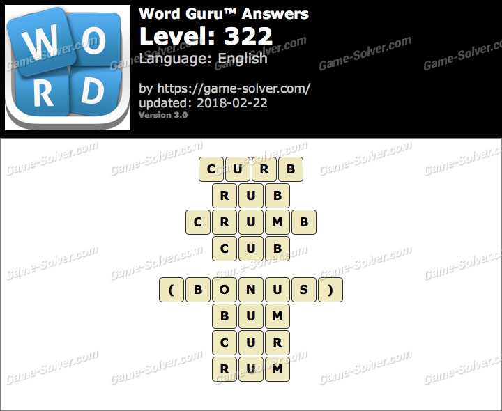 Word Guru Level 322 Answers