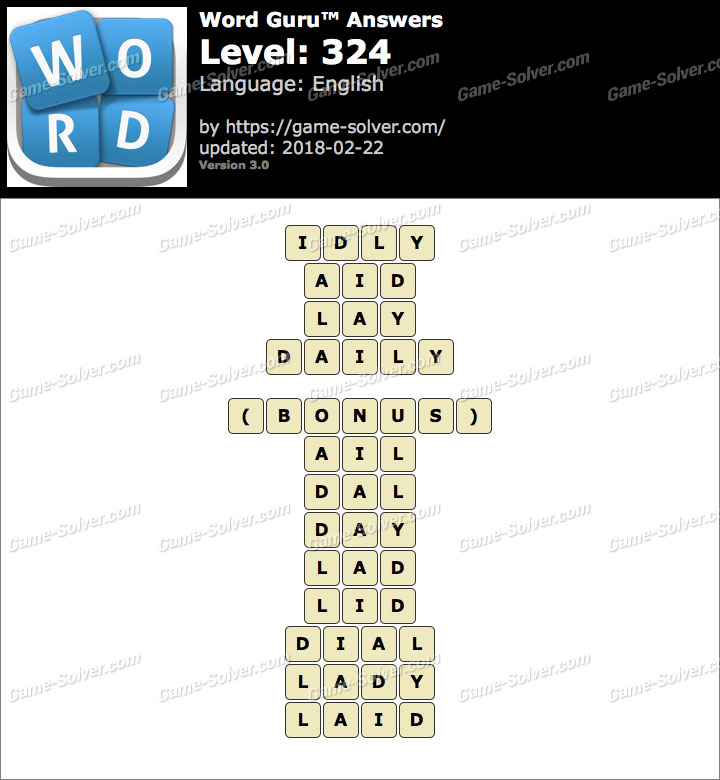 Word Guru Level 324 Answers
