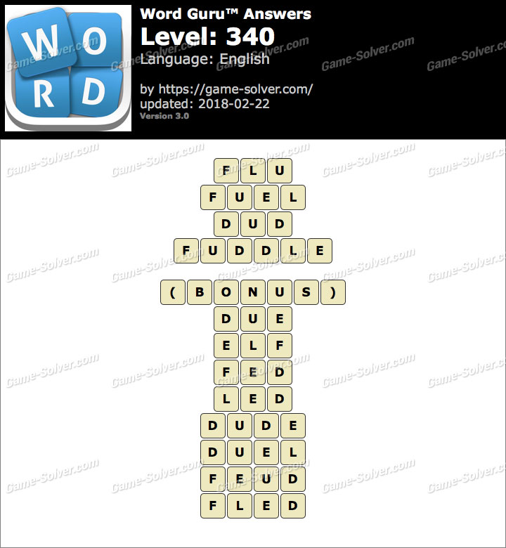 Word Guru Level 340 Answers