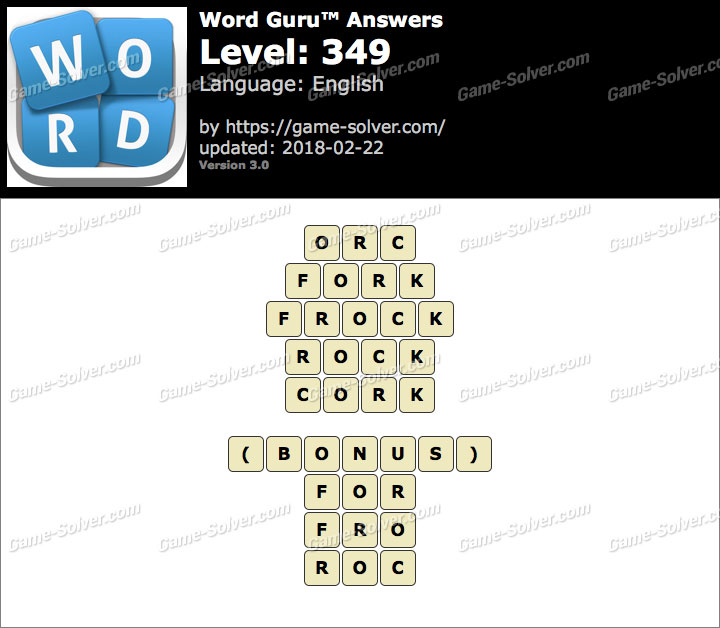 Word Guru Level 349 Answers