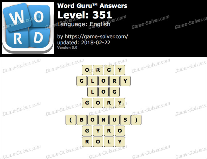 Word Guru Level 351 Answers