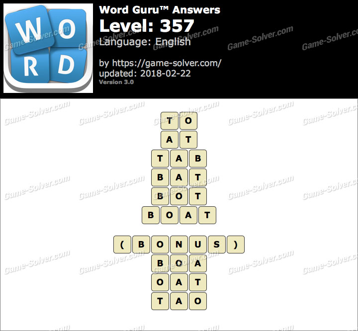 Word Guru Level 357 Answers