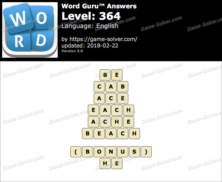 Word Guru Level 364 Answers