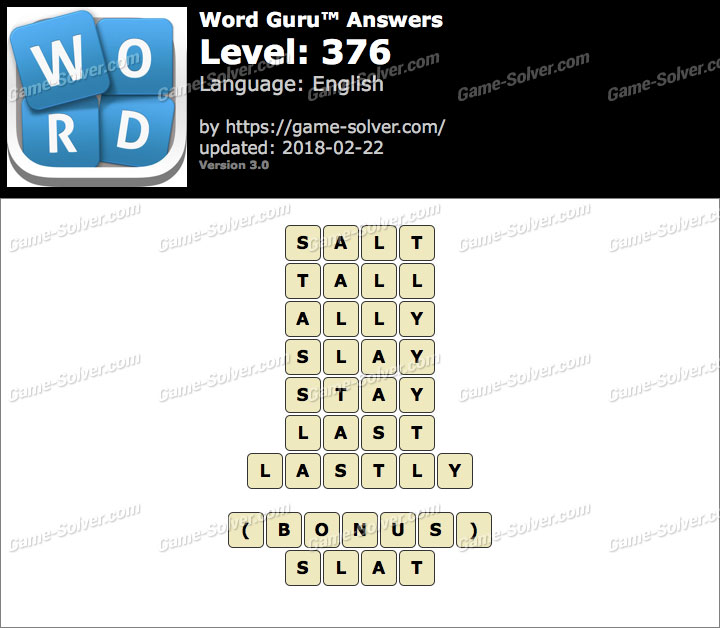 Word Guru Level 376 Answers