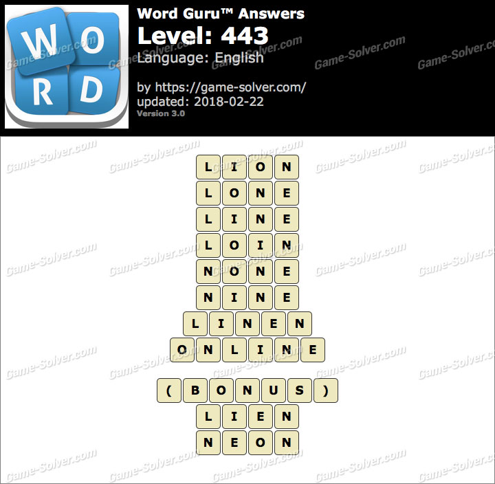 Word Guru Level 443 Answers