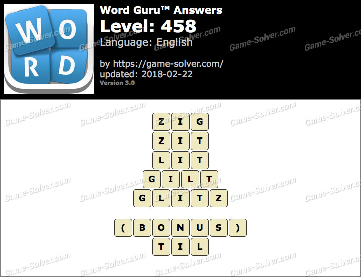 Word Guru Level 458 Answers