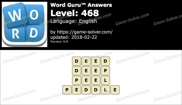 Word Guru Level 468 Answers